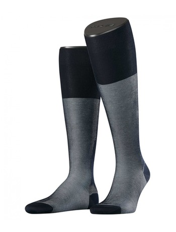 Falke Fine Shadow Men's Knee High Socks dark navy