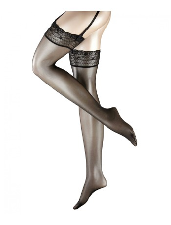 Falke Seidenglatt 15 Strap-On Stockings black