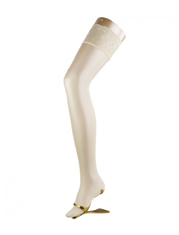 Falke Seidenglatt 15 Strap-On Stockings off-white