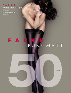 Falke Pure Matt 50 Hold-Up Stockings