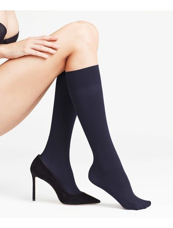 Falke Pure Matt 50 Ladies Knee-Highs marine