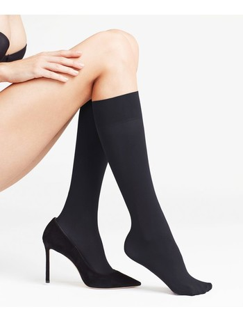Falke Pure Matt 50 Ladies Knee-Highs black