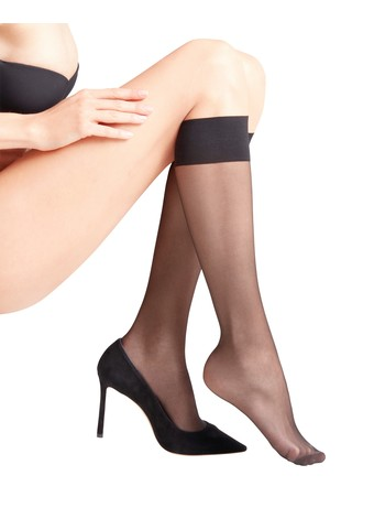 Falke Seidenglatt 15 kneesocks black