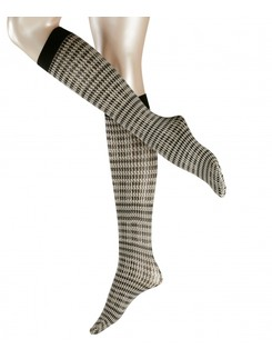 Falke Fashion Pied de Poule kneehighs