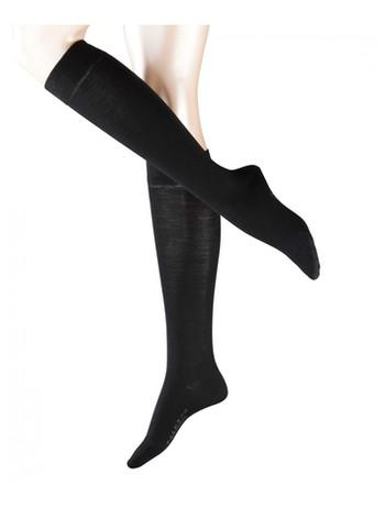 Falke Merino Wool Knee High Socks black