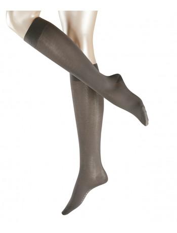 Falke Cotton Touch Ladies Knee High Socks platinum