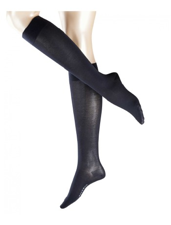 Falke Cotton Touch Ladies Knee High Socks dark navy