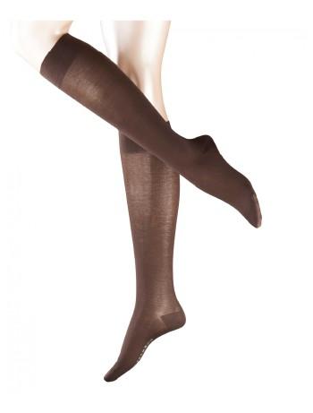 Falke Cotton Touch Ladies Knee High Socks darkbrown