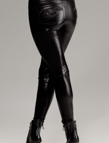 Forplay Metallic Liquid Wet Look Leggings