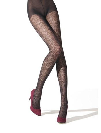 Franzoni Emozionante patterned tights black