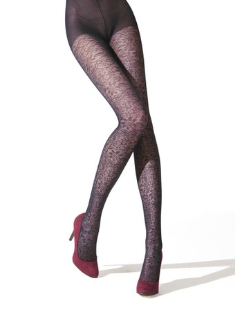 Franzoni Emozionante patterned tights blu