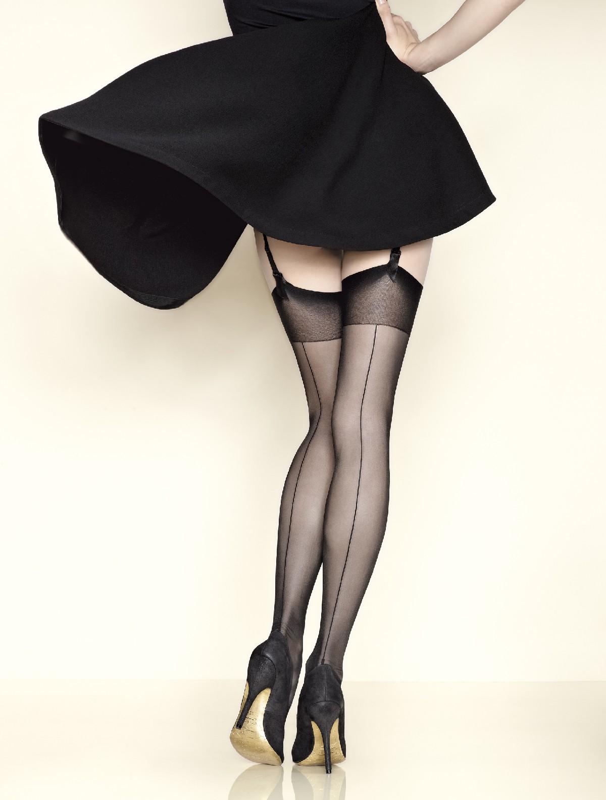 830d2b60b Gerbe Fatal 15 seamed Stockings black