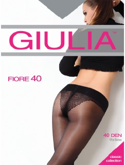 Giulia Fiore 40 Hipster Tights with floral patterned Bikini Brie
