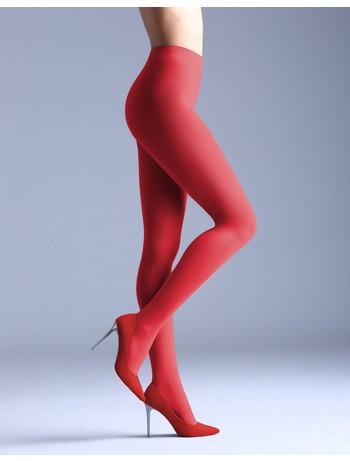 Giulia Samba 40 colored tights aurora red