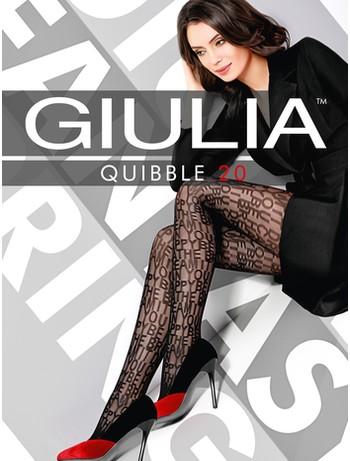 Giulia Quibble 20 patterned tights nero