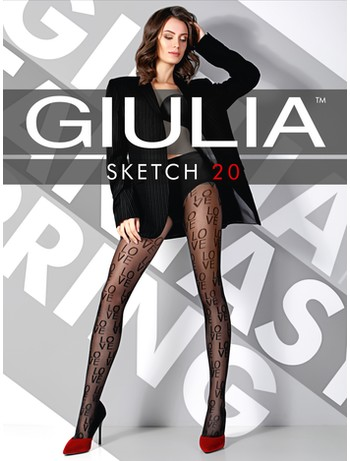 Giulia Sketch 20 #1 patternd tights nero