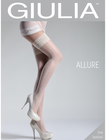 Giulia Allure 20 #5 patterned Hold-Ups bianco