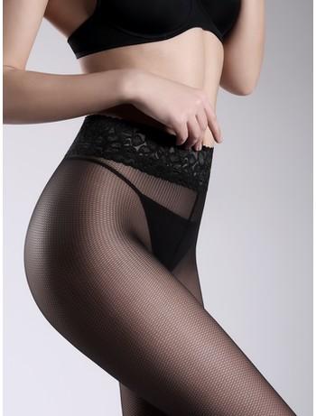 Giulia Impresso Rete netoptique patterned tights nero