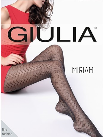 Giulia Miriam 20 #1 patterned tights nero