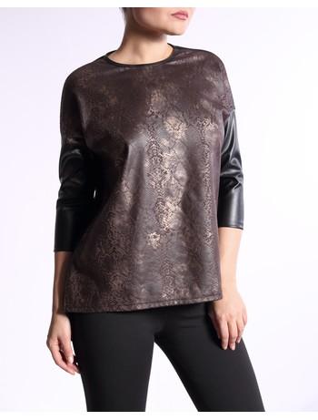 Giulia Jersey #01 Leather Style Shirt nero