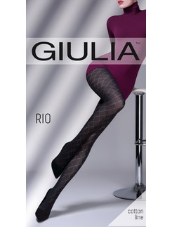 Giulia Rio 150 #4 patterend ajour cotton tights