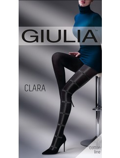 Giulia Clara #1 patterned cotton tights