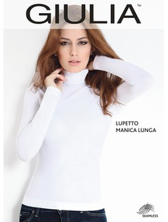Giulia Lupetto Microfiber Long Sleeve Roll Neck Shirt