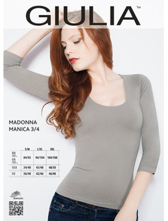 Giulia Madonna 3/4 Length Sleeve Microfiber Shirt