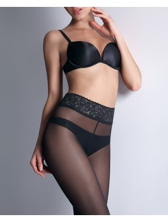 Giulia Impresso 40 Tights with Elegant Lace Waist Band