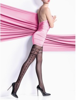 Giulia Elisa 40 #5 tights with lateral side leg pattern