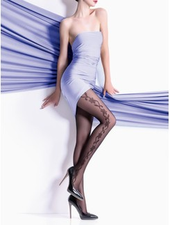 Giulia Flory 40 #14 tights with floral pattern