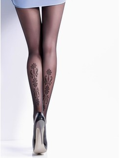 Giulia Safina #2 tights with calf pattern