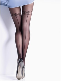 Giulia Safina #5 Fashion Tights with Tattoo Motif