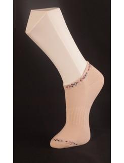 Giulia Beige Sneaker Socks