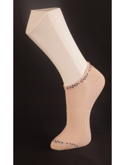 Giulia Beige Sneaker Socks with Plush Soles