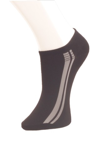 Giulia Black Sneaker Socks nero