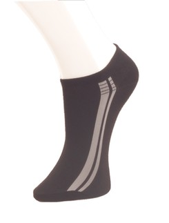 Giulia Black Sneaker Socks