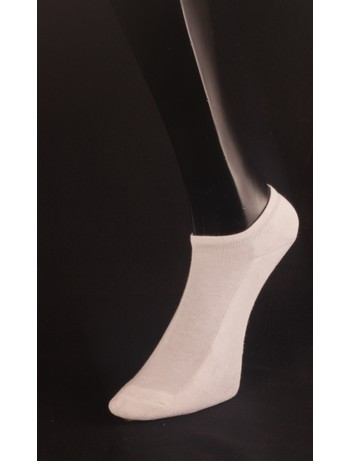 Giulia White Cotton Sneaker Socks bianco