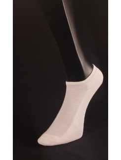 Giulia White Cotton Sneaker Socks