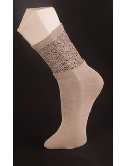 Giulia Sand Patterned Cotton Socks