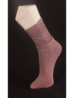 Giulia Lilac-Colored Cotton Socks