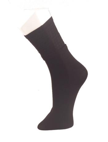Giulia Black Houndstooth Cotton Socks nero
