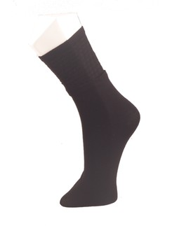 Giulia Black Houndstooth Cotton Socks