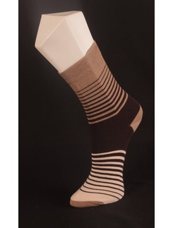 Giulia Brown Striped Socks