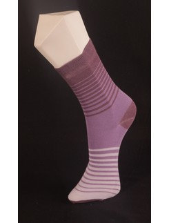 Giulia Lilac Striped Cotton Socks