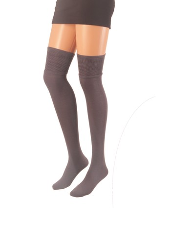 Giulia Over the Knee Socks with Patterned Top fume