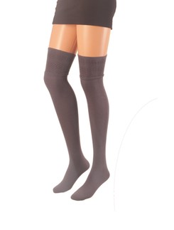 Giulia Over the Knee Socks with Patterned Top