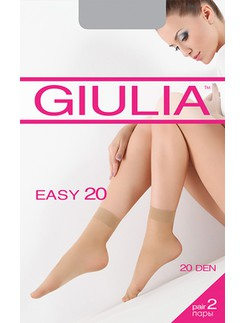 Giulia Easy 20 Double Pack of Sheer Nylon Socks