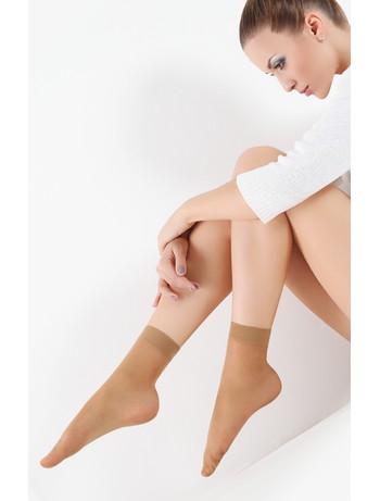 Giulia Easy 40 Nylon Socks Double Pack visone