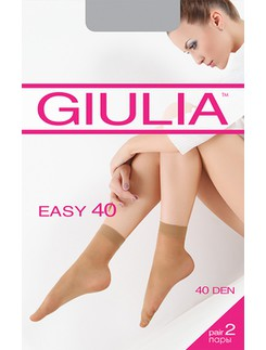 Giulia Easy 40 Doublepack of semi-sheer Ankle Socks